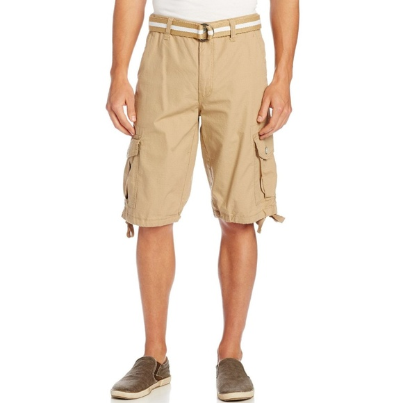 96d9404cd6 NEW MEN'S BELTED RIPSTOP BASIC CARGO SHORTS NWT B7 NWT